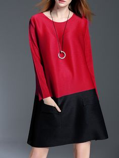 #AdoreWe #StyleWe Dresses - KK2 A-line Polyester Casual Mini Dress - AdoreWe.net