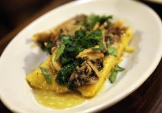 Polenta with mixed mushrooms from Amico Bio in London (via QuarryGirl).