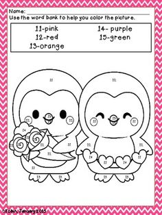 Color Me Lovely- Valentine's Coloring Sheets $