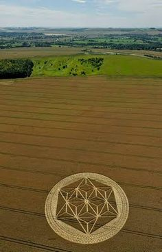 Crop Circle  at Etchilhampton, near Devizes, Wiltshire, England, UK..