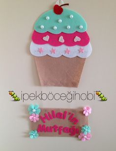 Cupcake mutfak kapı süsü