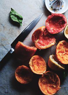 Citrus pomegranate mint tea