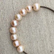 ETS-L0059 2.5mm large hole freshwater pearls, 10-11mm potato loose pearl beads, loose freshwater pearl, Natural pink pearl,10 pcs