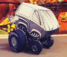 PAPERMAU: The Crazy Van Hot Rod Paper Model - by Thomas Workentinvia Paper Modelers Forum