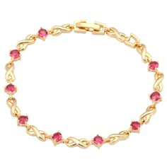Find More Charm Bracelets Information about New 2016  gift pulseiras femininas Ruby Bracelets for Women , 18K Yellow Gold red zircon, Fashion jewelry B331,High Quality bracelet led,China bracelet onyx Suppliers, Cheap bracelet china from Dana Jewelry Co., Ltd. on Aliexpress.com