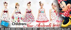 WE ARE PLEASED TO OFFER Childrens NEW ARRIVALS 2015. ‪#‎fashion‬ ‪#‎wholesaleclothing‬ ‪#‎ukfashion‬ www.topdowntradin...