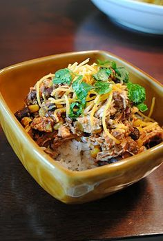 Crockpot Chicken Taco Bowls