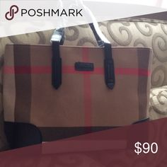 Plaid Tote bag NEW Very light weight Bags Totes