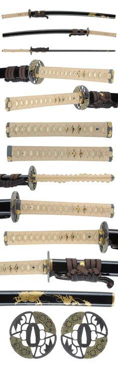 Katana [Kawabe Suishinsi Sadahide] [N.B.T.H.K] Tokubetu Hozon Token & Tousougu. Edo era 1810.
