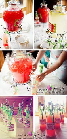 Kolorowe lemoniady na weselu!