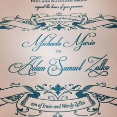 We loved the couple's beautiful invitation design, and their big day is just as beautiful.