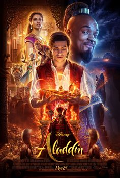 "Watch the new trailer for Disney's live-action adaptation of ""Aladdin"" directed by Guy Ritchie and starring Will Smith, Mena Massoud, and Naomi Scott. Disney's Aladdin Will Be In Theaters May… Aladdin Film, Disney Aladdin, Watch Aladdin, Film Disney, Genie Aladdin, Kids Disney Movies, Live Action Disney Movies, Aladdin Theater, Disney Films"