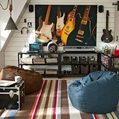 Electric Guitars Wall Mural | PBteen