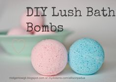 DIY DoTerra Bath Bombs! I Love bath bombs! www.mydoterra.com/essentialhealthstore