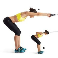 Starting a body structure workout strategy requires a level of commitment. As a newbie, you can exercise more often than more sophisticated body builders. Cable Workout, Cable Machine Workout, Back Workout Cables, Cable Back Exercises, Lat Workout, Workout Schedule, 15 Minute Workout, Womens Health Magazine, Golf Exercises