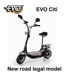 800W Citi ROAD LEGAL, EVO Powerboard electric scooter, hub motor