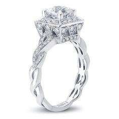 VannaK.com  Diamond: Round .48 Carat (not included 1 Carat center stone)  The Solea bridal collection, using the micro-pave technique, represents unsurpassed quality, refinement & detail, ensuring the greatest token of love and commitment.