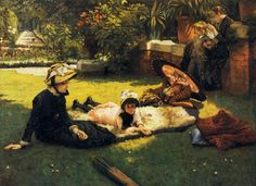 In the Sunshine ~ James Jacques Joseph Tissot ~ (French: 1836-1902)