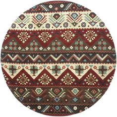 Surya Dream DST381 Red/Brown Southwest Area Rug