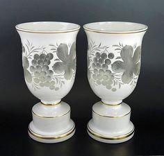 Vases Vintage Pair Frost Swirl Glass Flower Vases Aromatic Flavor