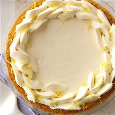 Limoncello Cream Pie Recipe is shared by Jessie Grearson-Sapat of Falmouth, Maine.