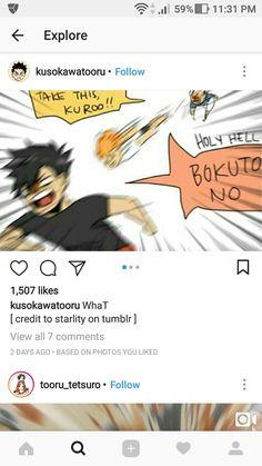 Kuroo, bokuto and Hinata Credits to owner of the photo