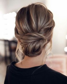 Hairstyle  Tresses  : low bun | insta  Emmy