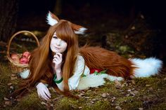 Holo from Spice and Wolf by LenaCosplayerCZ on DeviantArt Cosplay Makeup, Cosplay Outfits, Cosplay Girls, Cosplay Costumes, Cute Edgy Outfits, Wolf Costume, Spice And Wolf, 31 Days Of Halloween, Costumes