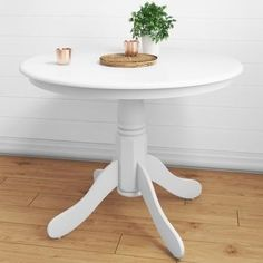 Make your home picture perfect with a stunning round dining table. Discover beautiful designs for your dining room exclusive to Furniture123. White round dining table for 4. #roundtable #rounddiningtable #smalltable #smalldiningtable #smallkitchen #whitetable #whitediningtable #whitehome #whitediningroom #smallspace #smalldining Round Pedestal Dining Table, White Dining Room, Round Pedestal Dining, Dining Table, Small Dining Table, White Dining Chairs, Dining Table With Leaf, White Dining Room Furniture, Drop Leaf Table