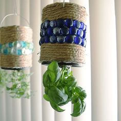 Hanging Coffee Can Herb Garden | You Can Totally Make This Hanging Herb Garden With An Old Coffee Can