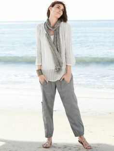 Eileen Fisher Cargo Linen Blend Ankle Pants Informations About Linen Pants: Yay or Nay Pin You can e Eileen Fischer, Linen Pants Outfit, Casual Outfits, Cute Outfits, Moda Casual, Stretch Pants, Ankle Pants, Spring Outfits, What To Wear