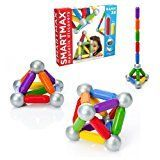 Building Set - The oversized pieces are specifically designed for handling by young kids as they learn about the effects of magnetic attraction and repulsion, while older children will have fun using the pieces to construct towers, bridges and other creations.