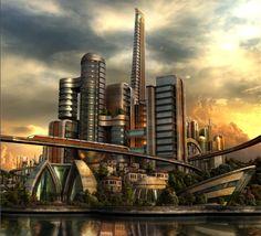 Resultado de imagem para cidades fantasticas