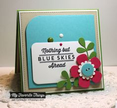 Blue Skies Ahead, Blueprints 14 Die-namics - Jodi Collins #mftstamps