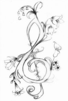 """This is a tutorial for drawing a simple G-clef, or a """"treble clef"""", and a few other fun variations of this key symbol."""