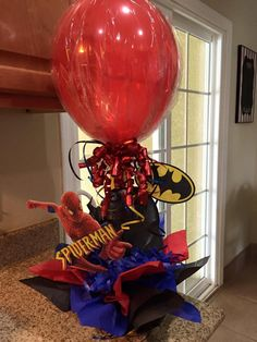 Batman/ Spiderman centerpiece