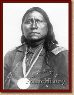 Satanta was a brave, mighty warrior, that fought for his people. Sherman tried to wipe him out and all of his tribe. He was forced to serve life in prison, where he jumped off a 2 story roof, to his death. He's buried in Oklahoma.