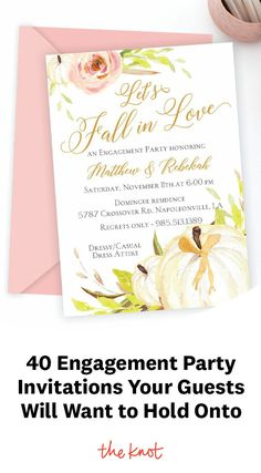 Engagement Party Invitations, Wedding Stationery, Falling In Love, Engagement Invitations, Wedding Invitations