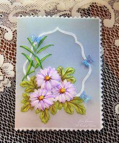 Parchment/Acrylic Daisies 1
