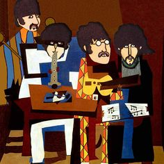 The Beatles in Picasso Style