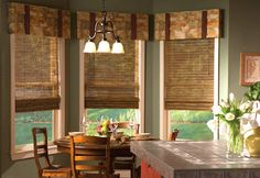 valance ideas for wide windows | kitchen-window-bay-window-treatment-curtains-shades