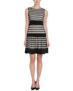 Taylor Black & Ivory Stripe Swing Dress is on Rue. Shop it now.
