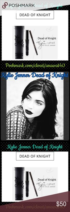 Kylie Jenner Dead of Knight #KylieLipKit by Kylie Jenner | Dead of Knight Contains:1 Matte Liquid Lipstick(0.11 fl oz./oz. liq / 3.25 ml)and1 Pencil Lip Liner(net wt./ poids net .03 oz/ 1.0g)The #KylieLipKit is your secret weapon to create the perfect 'Kylie Lip.' Each Lip Kit comes with a Matte Liquid Lipstick and matching Lip Liner.Dead of Knight is an intense true black. This ultra-long wearing lipliner has a creamytexture that glides across the lips for a very easy and…