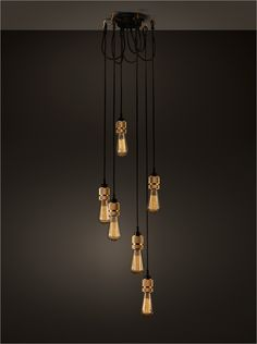 Hooked 6.0 nude pendant and ceiling lamp. Hooked pendel og loftlampe.