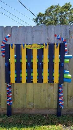 Reuse A Pallet This Summer To Organize Your Pool Noodles And Use As A Towel Rack Our Logistics
