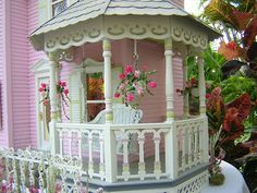 growing up I always wanted to live in a beautiful soft pink victorian home & have my own gazebo porch off of my bedroom...this brings back such precious memories...