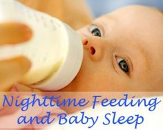 A guide to feeding your baby to help with sleeping through the night