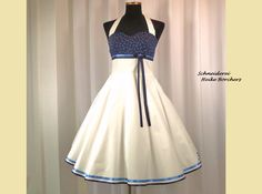 Petticoatkleid,Neckholderkleid,Kleid,Rockabilly,Hochzeit,Brautkleid,Konfirmationskleid,Jugendweihekleid von FiftiesFashion auf Etsy