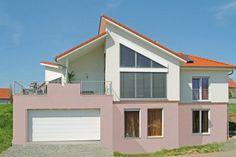 Design Bungalow Kreative Dachlandschaft Großzügige hohe Räume Frontansicht