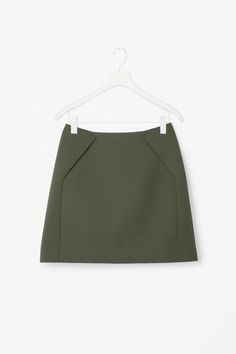 COS image 4 of Short A-line skirt in Khaki Green